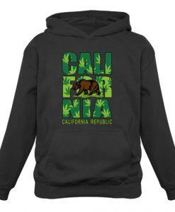 California Weed Bear Hoodie SR18D