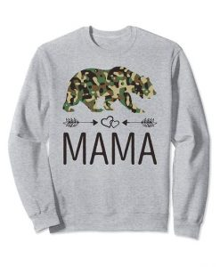 Camouflage Mama Bear Sweatshirt SR4D