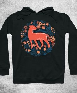 Cat with flowers Hoodie SR2D
