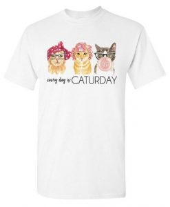 'Every Day Is Caturday' T-Shirt DL21D