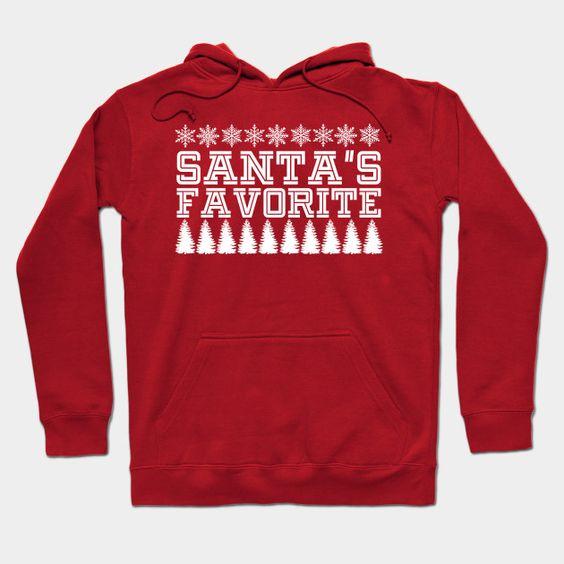 Santa's Favorite Hoodie SR7D