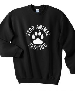 Stop animal testing sweatshirt SR4D