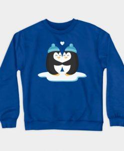 Two Lovers Penguins Sweatshirt SR2D