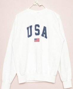 USA White Sweatshirt VL20D