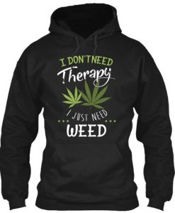 Weed Therapy Hoodie SR18D