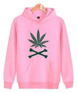 Weed and Crossbones Hoodie SR18D