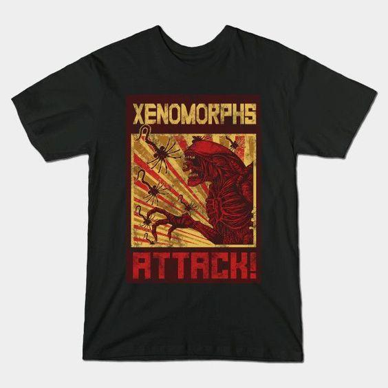 XENOMORPHS ATTACK T-Shirt VL23D