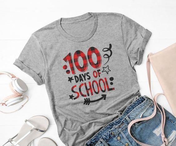 100 Days of School shirt FD17J0