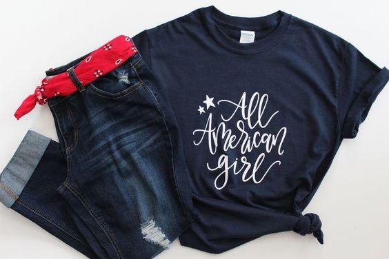 All American Girl Shirt FD27J0