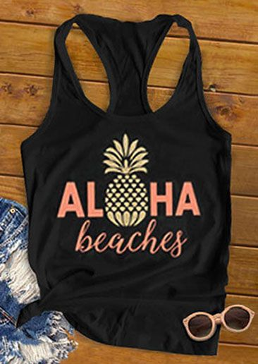 Aloha Beaches Pineapple Tank Top SR12J0