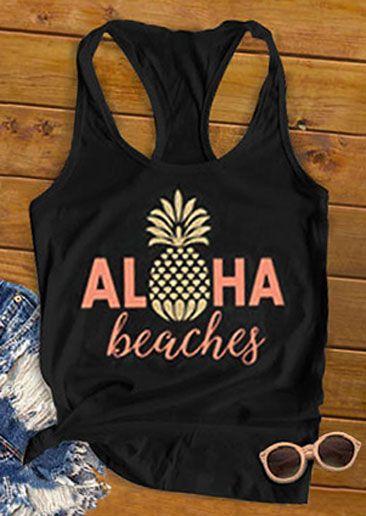 Aloha Beaches Pineapple Tank Top SR12J0
