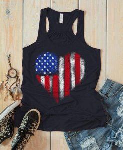 American Flag Heart Flowy Tanktop Fd27J0
