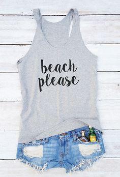 Beach Please Tanktop EL21J0