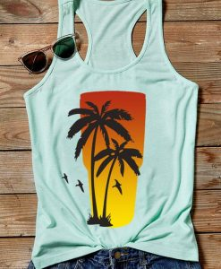 Coconut Tree Sunrise Tanktop FD10F0