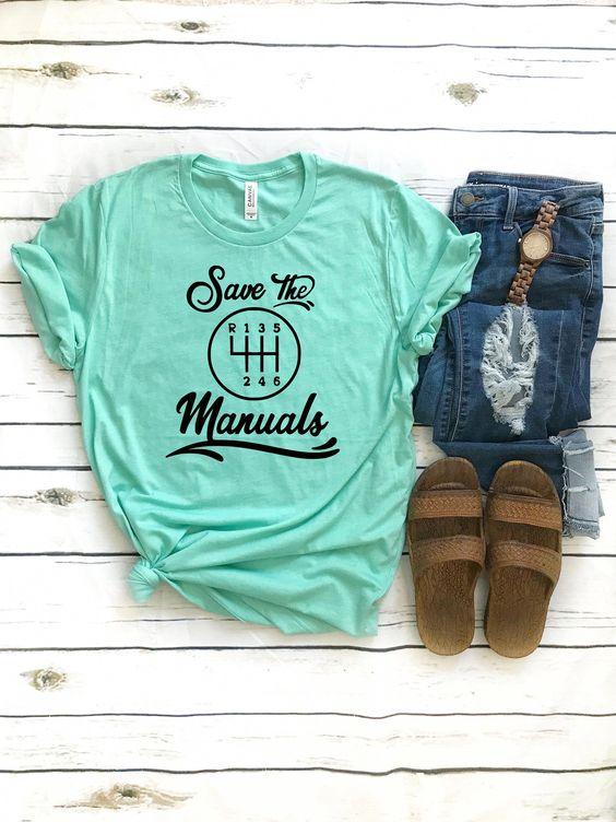 Save the Manuals T-shirt FD27F0