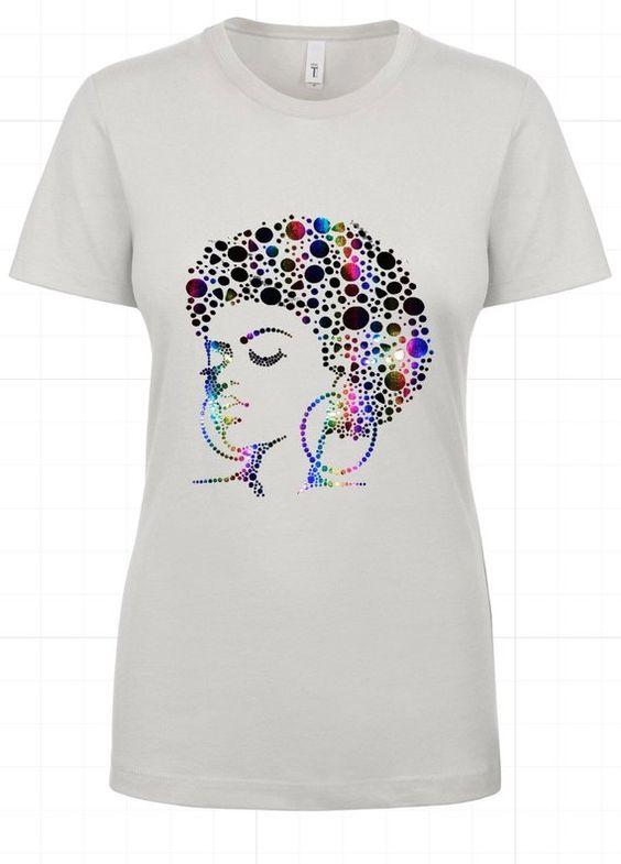 Afro Lady Tshirt DF24M0