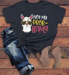 Women Funny Llama Tshirt LE10M0