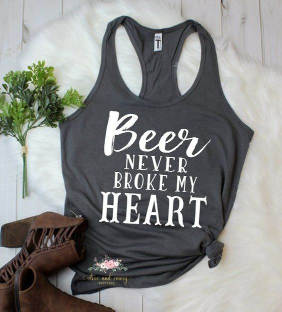 Beer never broke my heart tanktop AL24JN0
