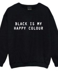 Black is my happy colour sweatshirt AL24JN0