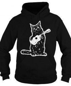 Black cat guitarist Hoodie AL6JL0
