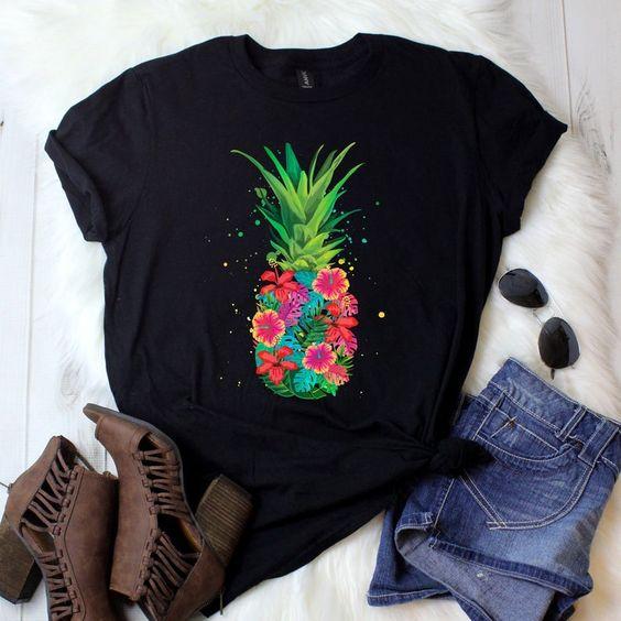 Pinapple flower T Shirt AL16JL0