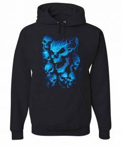 Blue Skulls Hoodie AL29AG0