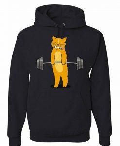 Cat Deadlifting Hoodie AL29AG0