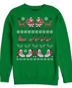 Ugly Christmas Santa Claus Pattern Sweatshirt GN24F1