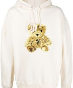 We11done teddy bear patch hoodie AG20F1