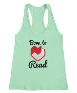 Born to Read Tank Top PU3A1