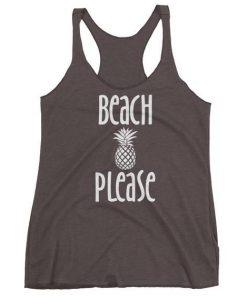 Beach Please Triblend Tanktop AL4M1