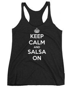 Keep Calm and Salsa On Tanktop AL4M1